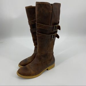 Bed Stu tall distressed brown leather riding boot